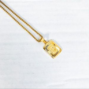 Jewelry - Initial 'D' Gold Link Chain Necklace